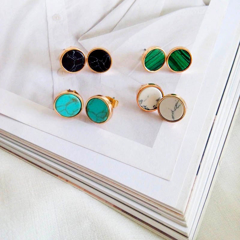 and the United States women jewelry minimalist restoring ancient ways round natural earrings earrings geometry