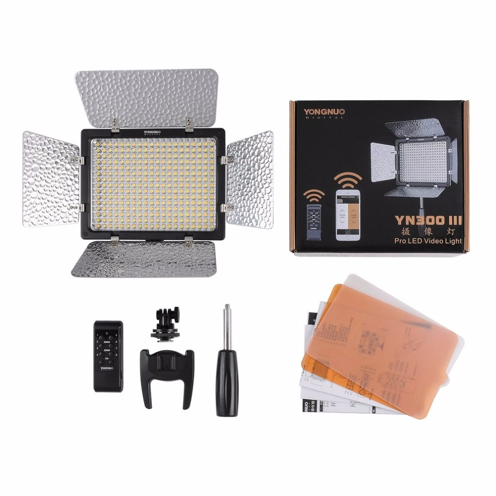 LED Camera Video Light With 5500K or 3200-5500K Color Temperature For Canon For Nikon For Pentax For Olympus