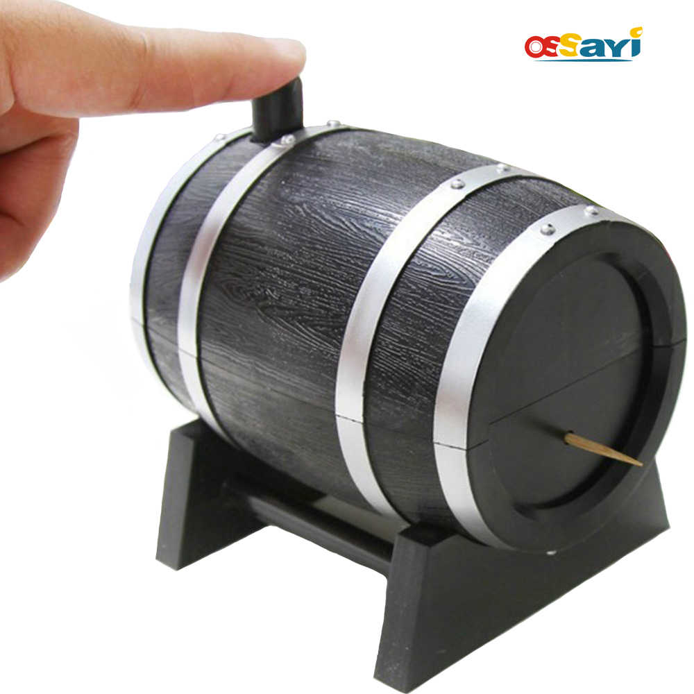 Wine Barrel Plastic Automatic Toothpick Box Container Dispenser Holder Popular New European Style Creative Toothpick Box