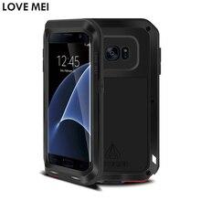 Для samsung galaxy s7 edge крышка 5.5 »anti-стучать противоударный case любовь мэй качество жесткий алюминиевый металлический задняя крышка телефон случаях
