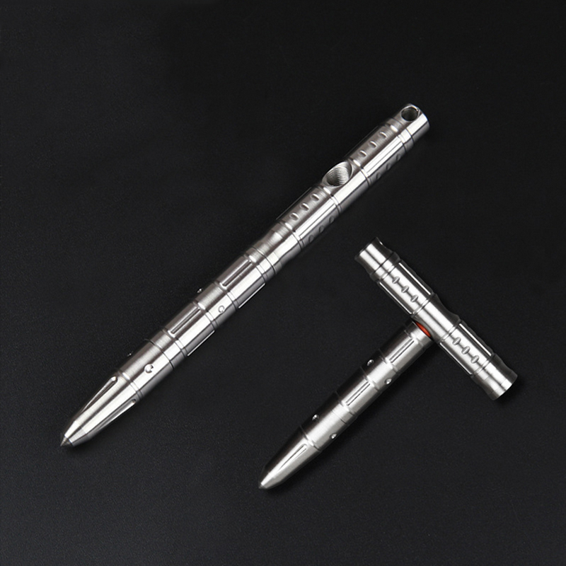 Multifunctional Stainless Steel Variable T Shaped Pen Emergency Hammer Self-defense Tactics EDC Outdoor Writing Pen