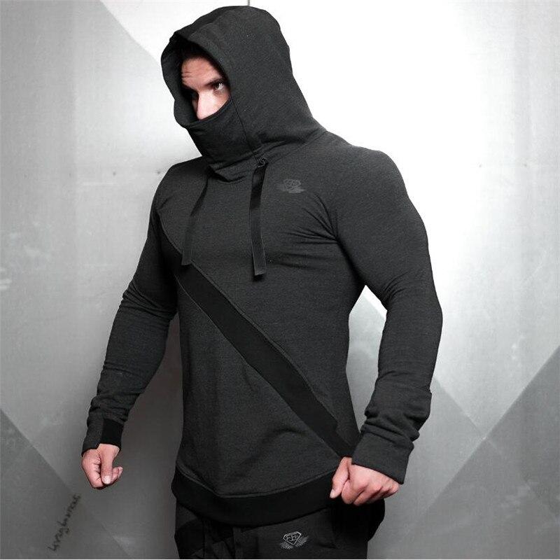 Толстовки Для мужчин 2018 брендовые модные толстовки с капюшоном брендовая тренажерные залы Акула тело инженеров высокое качество Для мужчи...