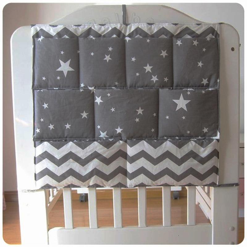 Free Shipping New Baby Cot Bed Hanging Storage Bag Crib