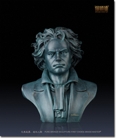 Unique High grade business gifts # TOP best ART # large great Musician Ludwig van Beethoven portrait bronze statue # 40 CM