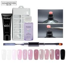 12 Colors Poly Gel Set Uv Builder Gel Nail Liquid Slip Solution Nail Art Brush Builder Modle Polygel Tools NQT7399