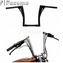 PAZOMA Brand New Motorcycle Steel Black 12 Rise Handlebar Handle Bar Custom for Harley FLST FXST Sportster XL