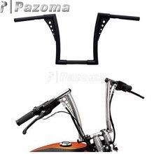 PAZOMA Brand New Motorcycle Steel Black 12 Rise Handlebar Handle Bar Custom for Harley FLST FXST Sportster XL