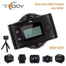 TOPJOY 360การกระทำกล้องเลนส์คู่3008*1504ทั้งหมดดูปลาตา1920 * @ 30fps Wifi 8MP VRกีฬาบ360 Action Videoกล้อง