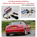 For Mercedes Benz A W176 / SLK R172 Car Parking Sensors + Rear View Back Up Camera = 2 in 1 Visual / BIBI Alarm Parking System