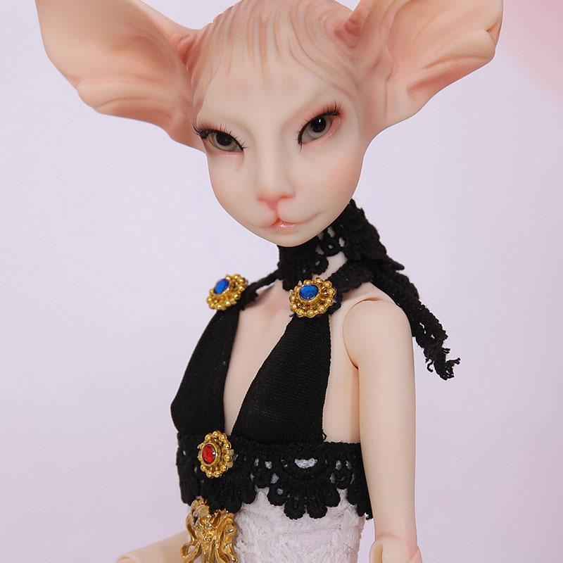 OUENEIFS BJD SD ตุ๊กตา Sphynx cat fullset elf สัตว์ 1/4 Body รุ่นหญิงเด็กของเล่น minifee msd ดวงตาฟรีเรซิ่นของขวัญ Xmas-ใน ตุ๊กตา จาก ของเล่นและงานอดิเรก บน   1