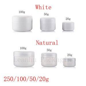 Image 2 - 20G 50G 100G 250G Lege Huidverzorging Crème Plastic Container, cosmetische Crème Potten Voor Persoonlijke Verzorging, Zalf Flessen Pot Inblikken