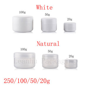 Image 2 - 20g 50g 100g 250g Empty Skin Care Cream Plastic Container , Cosmetic Cream Jars For Personal Care ,Unguent Bottles Pot Canning