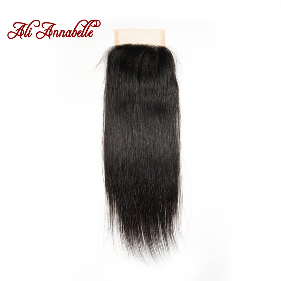 Where to buy hair closures - Order 1 Piece Annabelle Hair Brazilian Lace Closure 4 4 Brazilian Virgin Hair Closure Straight Middle Part Free