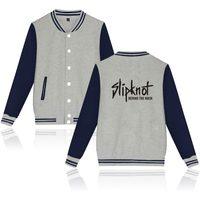 Two Step Slipknot Jacket Men Tops Brand Famouse Music Pop Team Hipster Behind The Mask Baseball