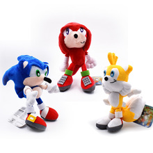 3 PCS/Sets Sonic Soft Plush Doll Red&Blue&Yellow Sonic Cartoon Animal Stuffed  Plush Toys Figure Dolls Gifts 20 cm 50 pcs lot wholesale peluche toy sonic soft plush doll yellow sonic cartoon animal stuffed plush toys figure dolls gifts 20 cm