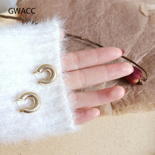GWACC Creative Minority Irregular Vintage Small Hoop Earrings For Women Metal Bohemian Hollow Round Fashion Jewelry