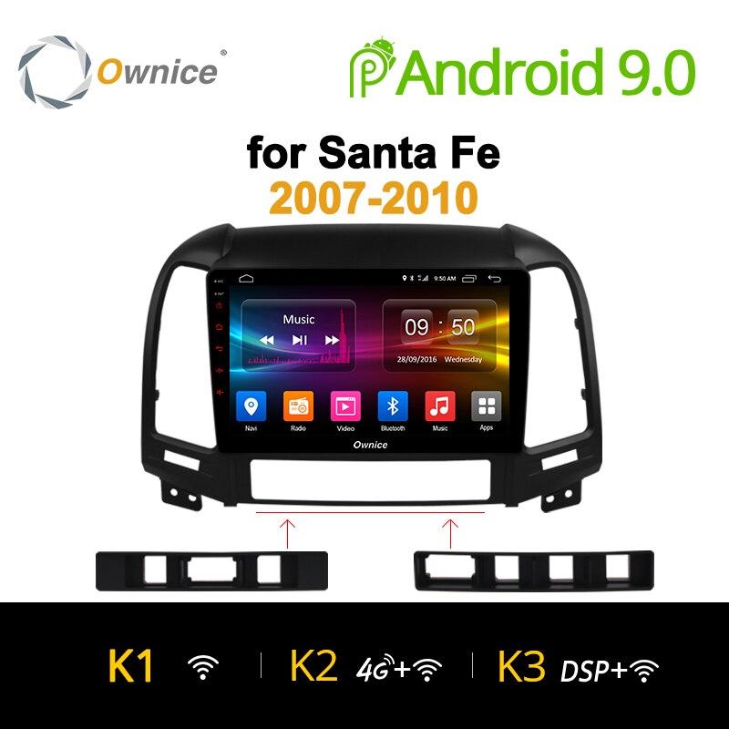 Ownice K1 K2 Octa Núcleo Android 9.0 din rádio do carro para Hyundai Santa Fe 3 2 IX25 Creat IX45 auto navegação gps jogador