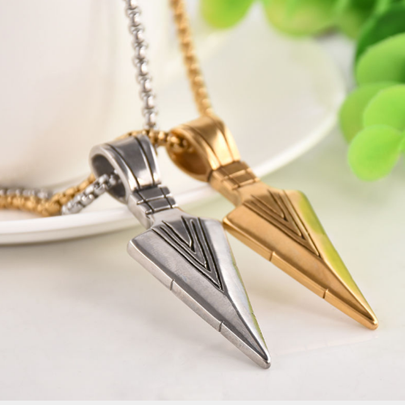 Trendy Arrow Long Necklace Punk Alloy Arrow Pendant Necklace for Women Men Sweater Chain Vintage Jewelry Gift in Pendant Necklaces from Jewelry Accessories