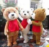 sm520 hot sale tedyy costume adult fur teddy bear mascot costume