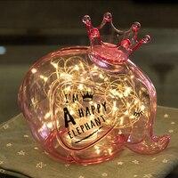 ZK30 Regalo di Nuovo Anno 5 M Stringa Lampeggiatore Luce Fata Nuovo Partito Della Lampada Della Luce di Notte Animale Creativo LED Decorazione di Festa san valentino