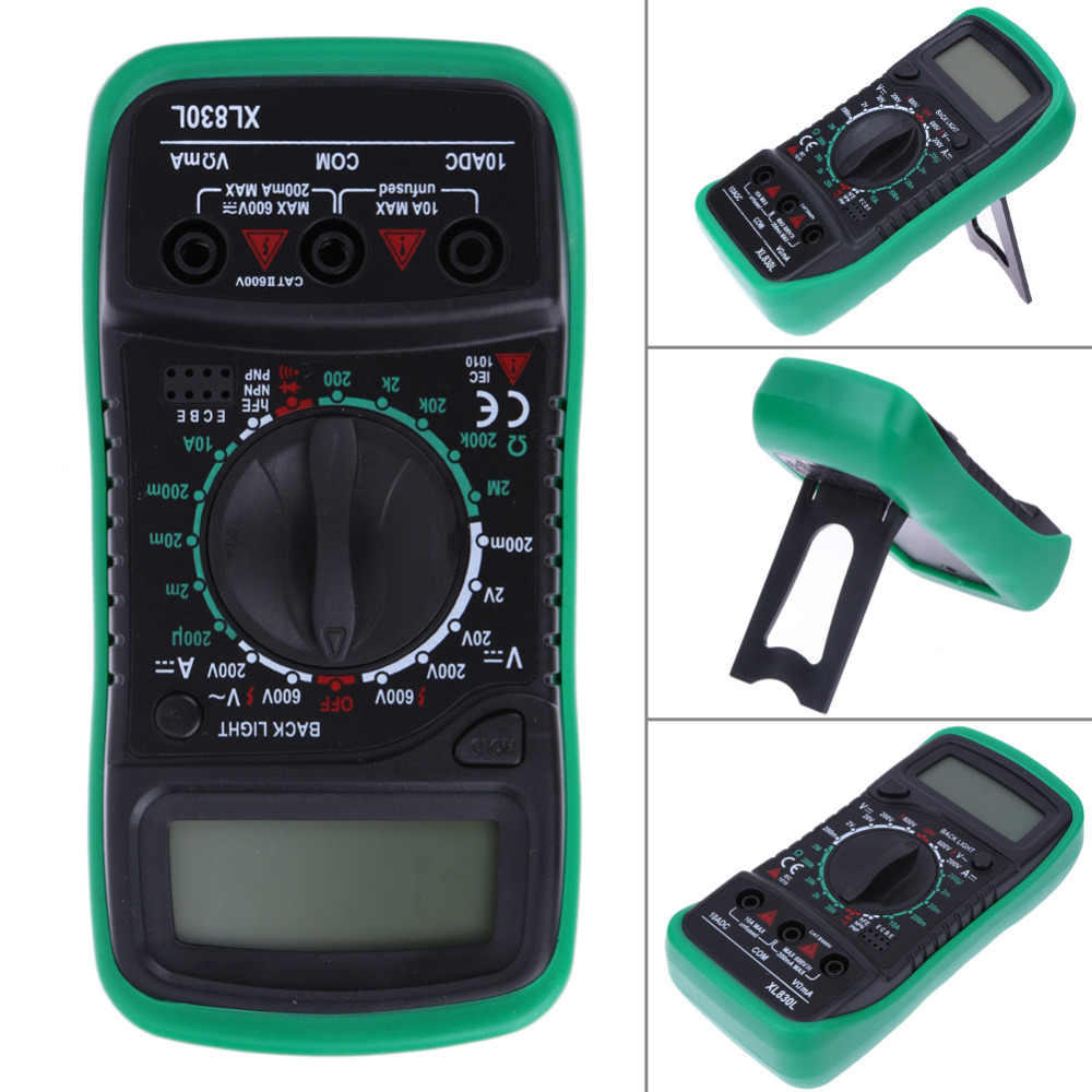 Digital Multimeter Voltmeter Ammeter AC/DC/OHM Volt Tester Meter LCD Current Voltage Multimeter Tester Overload Protection