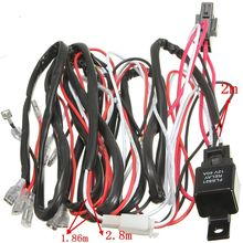 Car Wiring Harness LED Light Bar On Off Laser Rocker Switch With 40A Relay Fuse