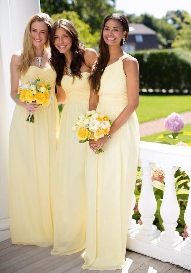 Vestidos para damas de honor amarillos