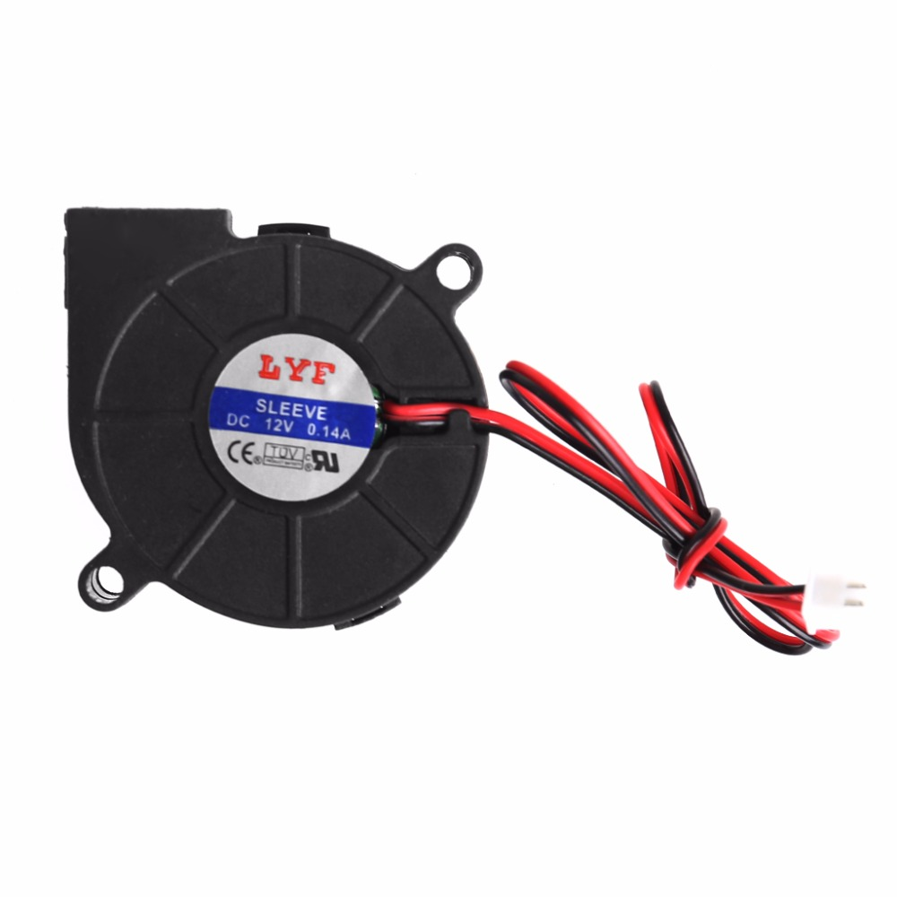 50mmx15mm DC 12V 0.14A 2-Pin Computer PC Sleeve-Bearing Blower Cooling Fan 5015 C26