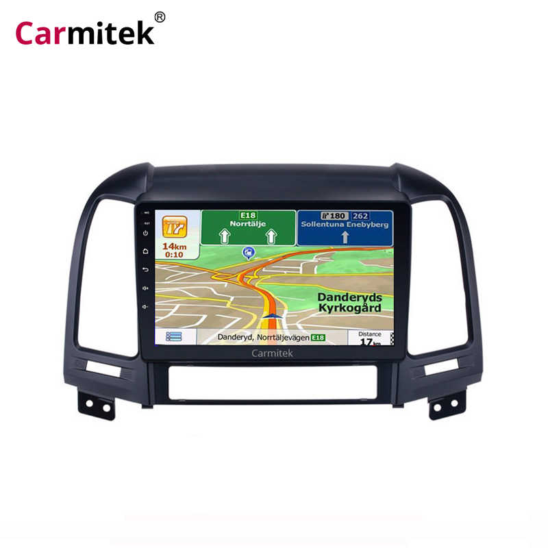 Radio samochodowe z androidem multimedialne stereo odtwarzacz audio Navi GPS 2Din dla Hyundai Santa Fe 2006 2007 2008 2009 2010 2011 2012 jednostka główna