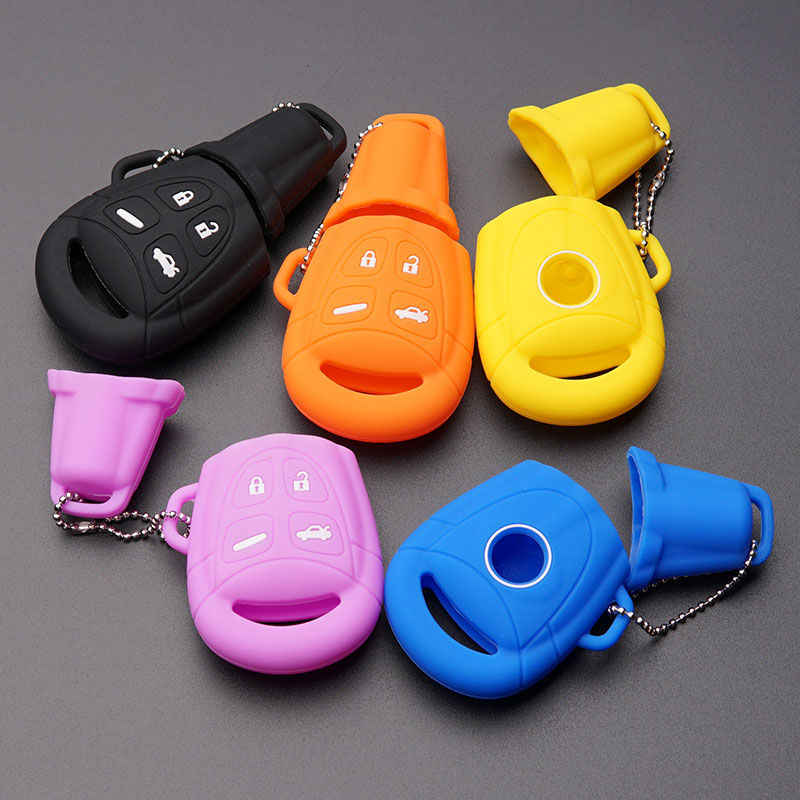 Silicone car key fob shirt hood case shell cover holder For SAAB 9 3 9 5
