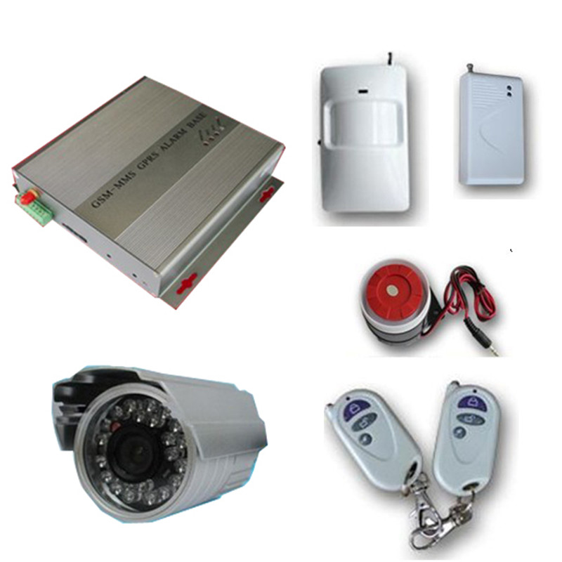 MMS Quad GSM Wireless Security Alarm SMS PIR Camera DVR SD Card GSM Alarm System