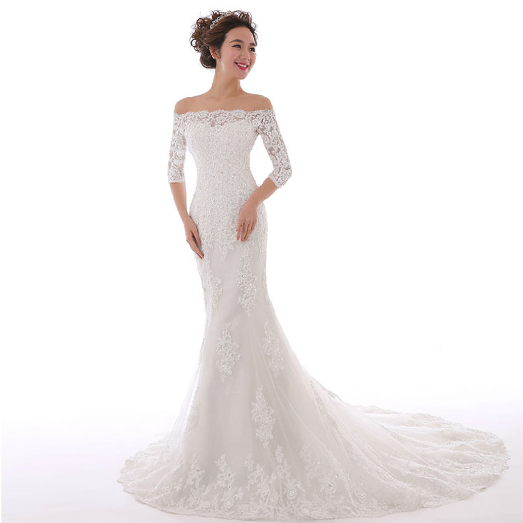 Latest Wedding Gowns 2015: Cheap Price ! 2015 New Arrival ! Sexy Applique Tulle Long