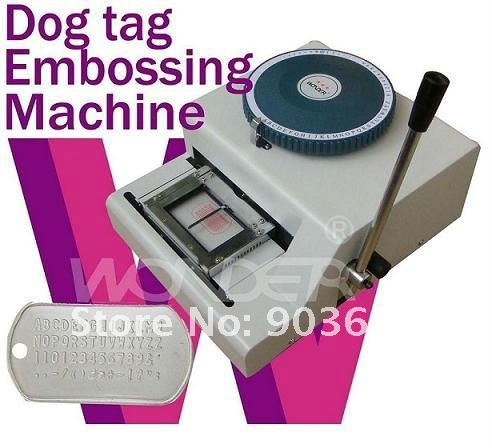 Free Shipping!52D Manual PET ID tag Embosser Machine for military dog tag metal steel embossing press machine wonder52Characters 62cd dog tag embossing machine military tag embosser 2 in 1