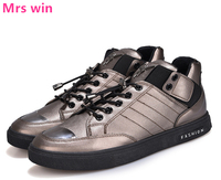 New Men Skateboarding Shoes Outdoor Camping Sneakers Footwear Metal Sequins Flat Shoes PU Waterproof Sports Shoes