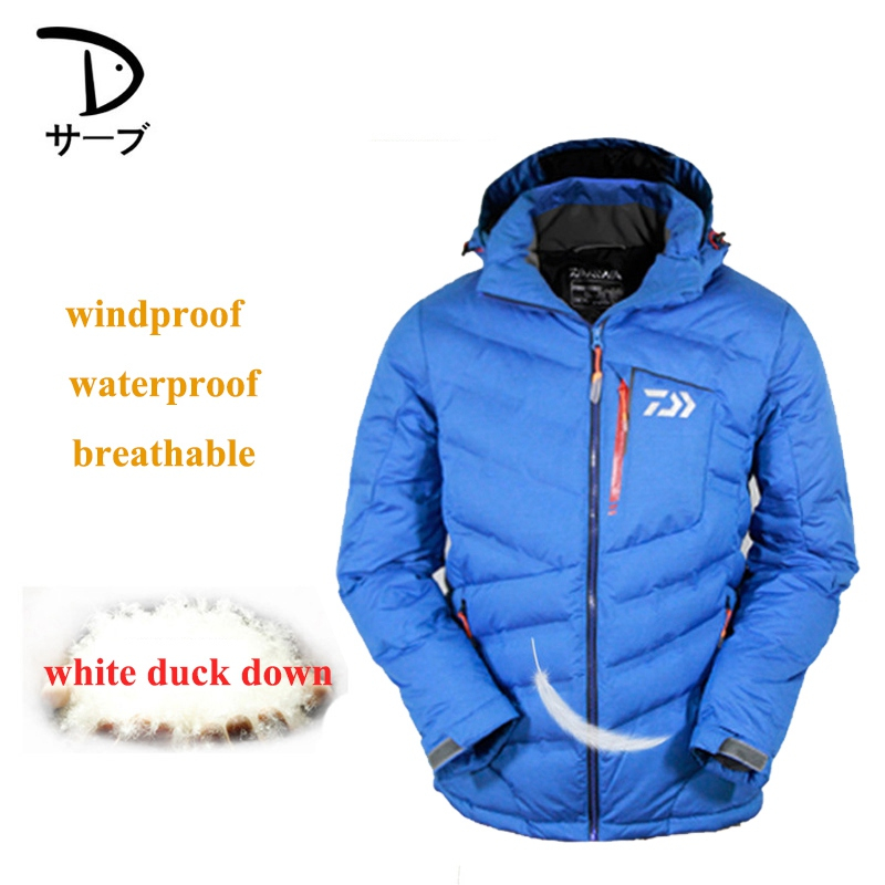 все цены на Autumn Winter Daiwa Down Jacket Coat Fishing Clothes Warm Windproof Breathable Outdoor Sports Mountaineering Clothing