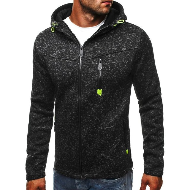 Plus Size 3XL Men Hoodies 2018 Autumn Winter Hooded Sweatshirts Slim Zipper Mens Coat Bomber Jackets Sportwear Moletom Cardigan 4