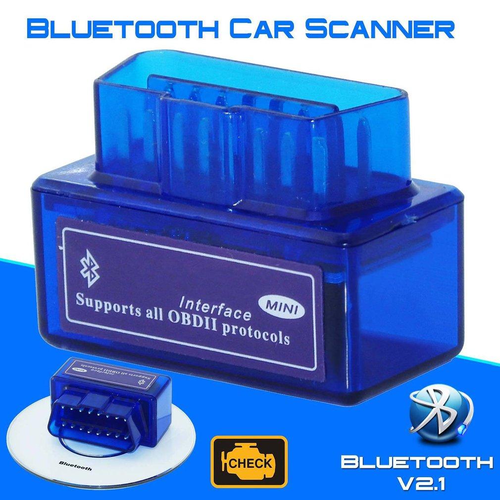 New Latest Version Mini Bluetooth OBD2 Elm 327 V2.1 OBD 2 Car Diagnostic-Tool Scanner  OBDII Adapter Auto Diagnostic Tool