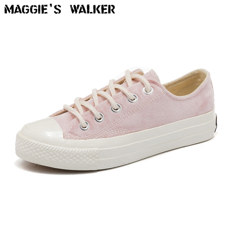 Maggie's Walker Women Fashion Canvas Casual Shoes Candy-colored Lacing Platform Out-door Shoes Size 35-40 free shipping new arrival 2017 women trendy candy colored slip on canvas shoes platform canvas casual loafers size 35 40