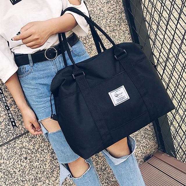 4e2ced453b 2018 Women Shoulder Bags Oxford Casual Travel Tote Bag Big Size Women s  Handbags Solid Satchel Women Bags bolsa feminina