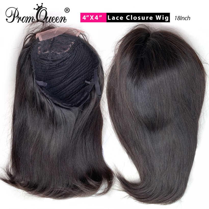 250% densidad 30 32 34 36 38 40 pulgadas 4*4 pelucas de pelo humano de encaje con pelo de bebé cabello Remy brasileño para mujeres negras