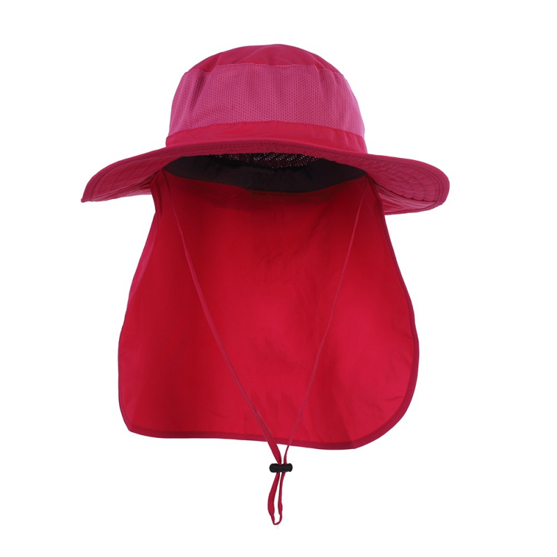 baed4880288 Outdoor Hiking Camping UV Protection Neck Cover Fishing Cap Visor Big Bucket  Hats Long Cloak Sunshade Anti UV Hat-in Bucket Hats from Apparel  Accessories on ...
