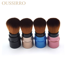 High-quality retractable blush face powder brush beauty tools professional soft makeup brush