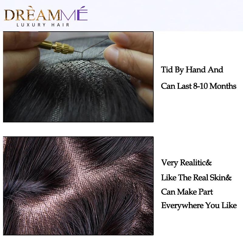Brasilianske body wave snøre lukning gratis del remy hår lukning - Menneskehår (sort) - Foto 5