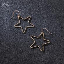 Badu Gold Star Earring Big Punk Hollowing Pendant Earrings for Women Fashion Jewelry Gift Girls Wholesale