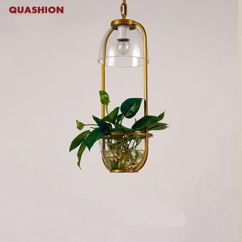 Pastoral Pendant Light American Style Modern Living Plant Flowerpot Planter Lamp Restaurant Creative Cafe Hotel Decor