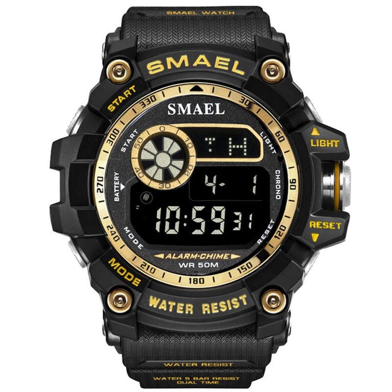 3513f0d40bf2 SMAEL reloj militar 50 M resistente al agua reloj de pulsera Led reloj de  cuarzo reloj
