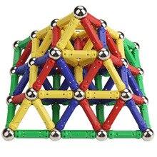 Magnetic Stick Metal Balls Building Blocks Construction Toys for Kids 157 Pcs set DIY Designer Educational