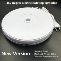 10 25cm Led Light 360 Degree Electric Rotating Turntable for Photography accessories Max Load 10kg 220V 110V fotografia