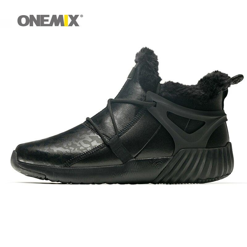 Onemix для мужчин треккинговые ботинки противоскользящие зимние обувь для женщин mountain обувь удобные теплые уличные кроссовки для мужчин трек...