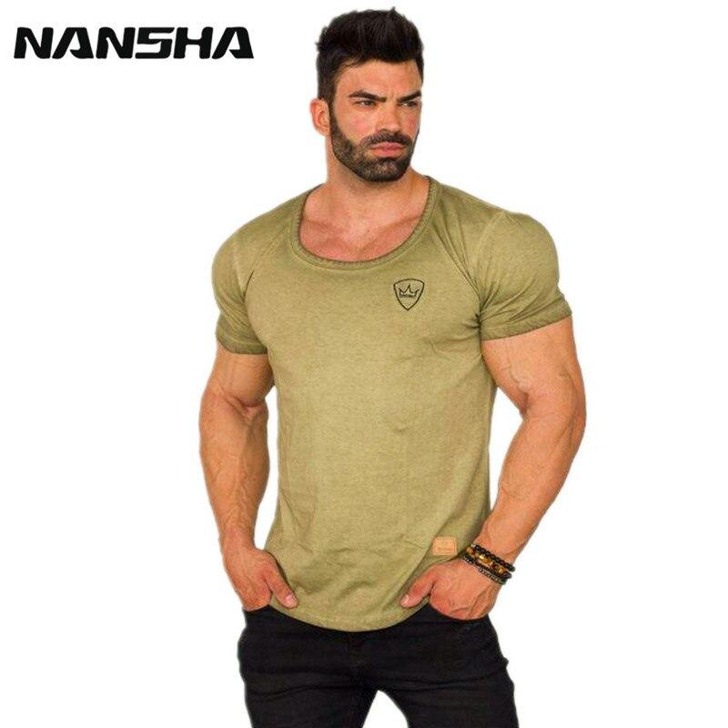Romantic 2018 Brand Mens Muscle T Shirt Bodybuilding Fitness Cotton Singlets Plus Big Size Tshirt Gasp Men Tops Short Sleeve Tshirt Men's Clothing